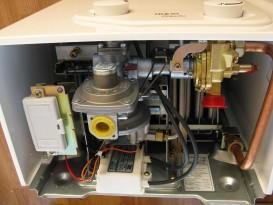 Газовая проточная колонка Beretta Idrabagno Aqua 14i электророзжиг от батареек открытая камера сгорания 20042540