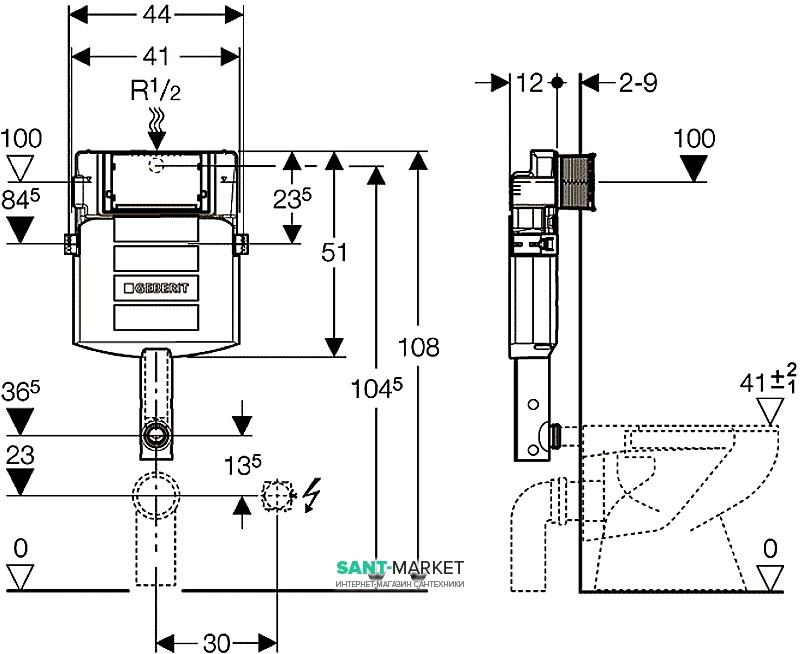geberit duofix up 320 12 44 51. Black Bedroom Furniture Sets. Home Design Ideas