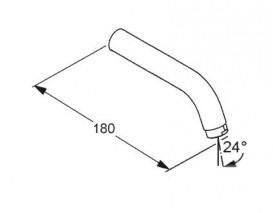 Излив для смесителя настенного монтажа для раковины Kludi латунь хром 7302105-00