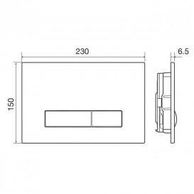Кнопка смыва для унитаза Imprese Pani механическая двойной смыв пластик белый i9040WOLIpure