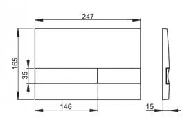 Кнопка управления AlcaPlast для скрытых систем инсталляции хром матовый/черный M1712-8