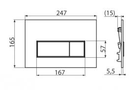Кнопка управления AlcaPlast Thin для скрытых систем инсталляций M570