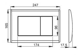 Кнопка управления AlcaPlast для скрытых систем инсталляций черный матовый M278