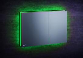 Кнопка управления AlcaPlast Flat Air Light с зеленой подсветкой AIR LIGHT-GREEN