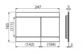 Кнопка управления AlcaPlast Flat Fun Inox для скрытых систем инсталляций FUN-INOX