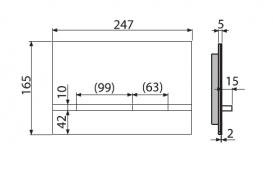 Кнопка управления AlcaPlast Flat Stripe Inox для скрытых систем инсталляций STRIPE-INOX