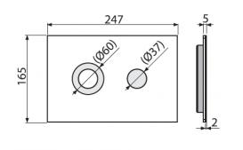 Кнопка управления AlcaPlast Flat Turn Inox для скрытых систем инсталляций TURN-INOX