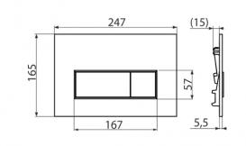 Кнопка управления AlcaPlast Thin для скрытых систем инсталляций черный матовый M578