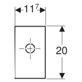 Крышка и патрубок Geberit внутристенного сифона скрытого монтажа пластик хром глянец 115.416.21.1