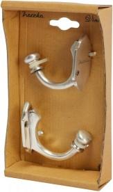 Крючок для ванной Haceka Vintage одинарный серебро 1170892