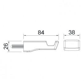 Крючок для ванной Imprese Grafiky латунь черный ZMK04180821