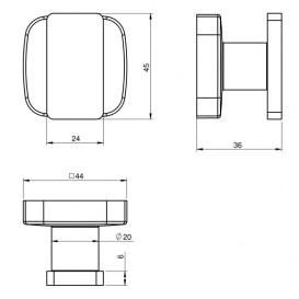 Крючок для ванной Volle Teo металл хром 15-88-001