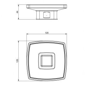 Мыльница для ванной Volle Teo матовое стекло с мягким кольцом 15-88-115