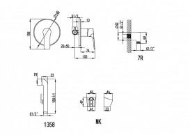 Набор для гигиенического душа Imprese Kucera хром VR30105Z-BT