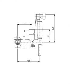 Набор гигиенического душа Webert хром EL870303 PVC.015
