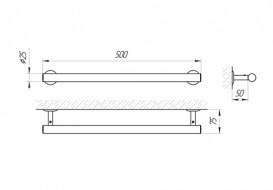 Настенный держатель для полотенец Laris Классик хром 71401037