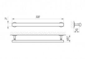 Настенный держатель для полотенец Laris Гранд хром 71401038