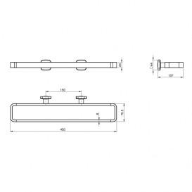 Настенный держатель для полотенец Volle Teo универсальный 15-88-341
