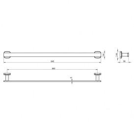 Настенный держатель для полотенец Volle Teo хром 15-88-342