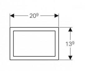 Облицовочная рамка к смывной клавише Geberit Omega 60 хром глянцевый 115.086.21.1