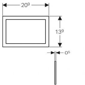 Облицовочная рамка к смывной клавише Geberit Omega 60 хром шлифованный 115.086.GH.1