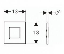 Панель смыва для писсуара Geberit Sigma 30 хром матовый/хром глянцевый/хром матовый 116.037.KN.1
