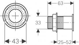 Панель смыва для унитаза Geberit двойной смыв кнопка ИК хром глянцевый 115.858.21.1