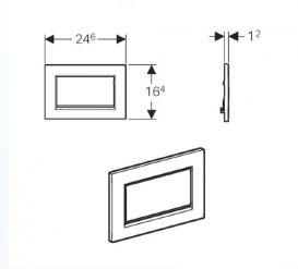 Панель смыва для унитаза Geberit Sigma 30 одинарный смыв хром матовый/хром глянцевый/хром матовый 115.893.KX.1