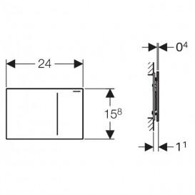 Панель смыва для унитаза Geberit Sigma70 двойной смыв для индивидуальной вставки 115.620.00.1