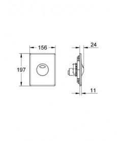 Панель смыва для унитаза Grohe Skate (3 режима смыва) суперсталь 38862SD0