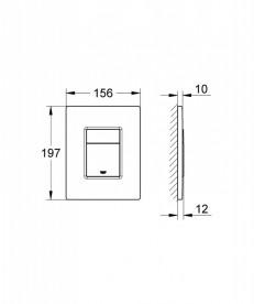Панель смыва для унитаза Grohe Skate Cosmopolitan матовый графит 38732AL0