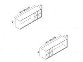 Пенал подвесной Hatria SLIDING wood system 1000x260x400 орех YXRP92