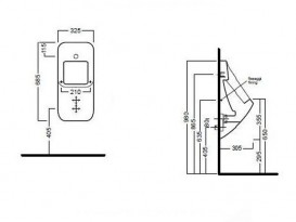 Писсуар подвесной Hatria Fusion санфарфор белый YXC301
