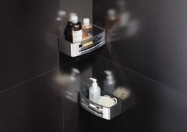 Полочка для ванной Volle Teo навесная нержавеющая сталь с пластиковой вставкой Graffit 15-88-755