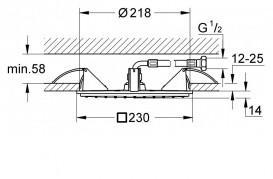 Потолочный душ Grohe Allure хром 27863000