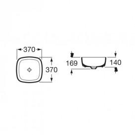Раковина-чаша для ванной Roca Inspira Soft 37х37 см с керамической декоративной крышкой донного клапана A327502000