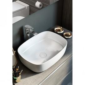 Раковина-чаша для ванной Roca Inspira Soft 50х37 см с керамической декоративной крышкой донного клапана A327500000