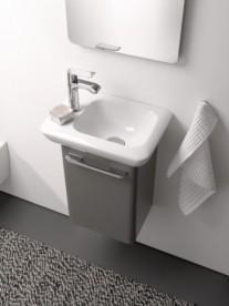 Раковина для ванной на тумбу Kolo Life 40 левосторонняя с покрытием Reflex белая M22441900