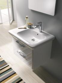 Раковина для ванной на тумбу Kolo Life 70 левосторонняя с покрытием Reflex белая M21170900