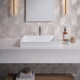 Раковина для ванной накладная Catalano Zero 60х35 керамическая цвет белый матовый 16035ZEBM