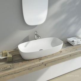 Раковина для ванной накладная Catalano Green Lux 80х40 овальная керамическая цвет белый матовый 180APGRLXBM