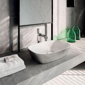 Раковина для ванной накладная Catalano Gold & Silver 60х40 керамика цвет белый/серебро 160APGRLXBA