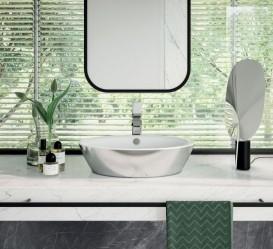 Раковина для ванной накладная Catalano Gold & Silver 60х42 керамика цвет белый/серебро 160VLNBA