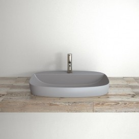 Раковина для ванной накладная Catalano Colori 65х42 керамика цвет цемент поверхность сатин 165GRLXNCS