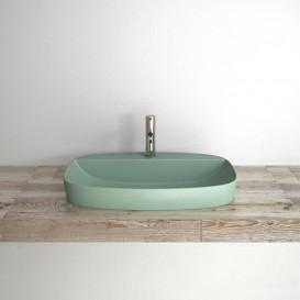 Раковина для ванной накладная Catalano Colori 65х42 керамика цвет зеленый поверхность сатин 165GRLXNVS