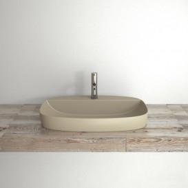 Раковина для ванной накладная Catalano Colori 65х42 керамика цвет серый поверхность сатин 165GRLXNGS