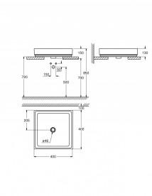 Раковина для ванной накладная Grohe Cube Ceramic 40 см альпин-белый 3948200H