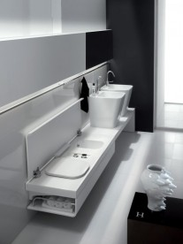 Раковина для ванной накладная Hatria G-Full 40x48 см санфарфор белый YXG801