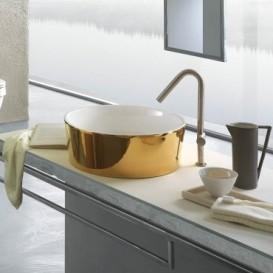 Раковина для ванной накладная Hatria HAPPY HOUR_Trilogy Gold edition 24k 440x440 YXSK30