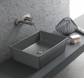 Раковина для ванной накладная Hatria HAPPY HOUR 500x380 ANTHRACITE A0YXSL08